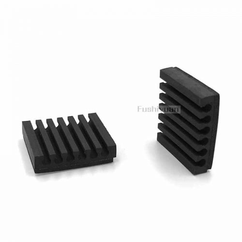 12mm square rubber feet