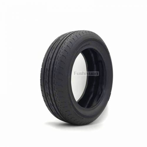 Wooden toy rubber tires