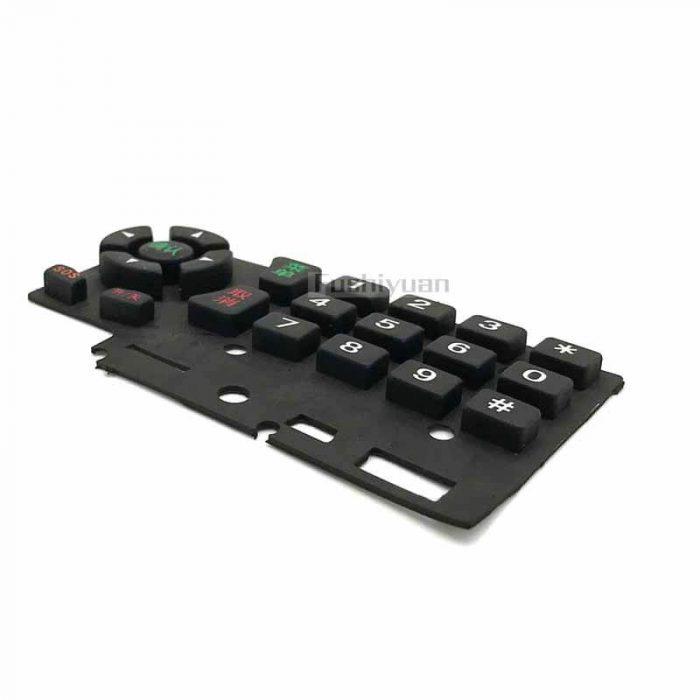 Conductive and non-conductive rubber keypad