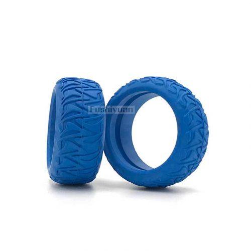 Tough thread solid rubber tire